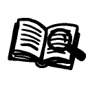Book icon with magnifying glass, signifying the Interrogate a Story Source project