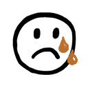 Sad, crying icon
